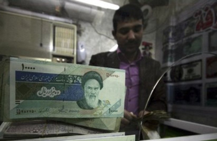 Iran rial sanctions 390 (photo credit: REUTERS)