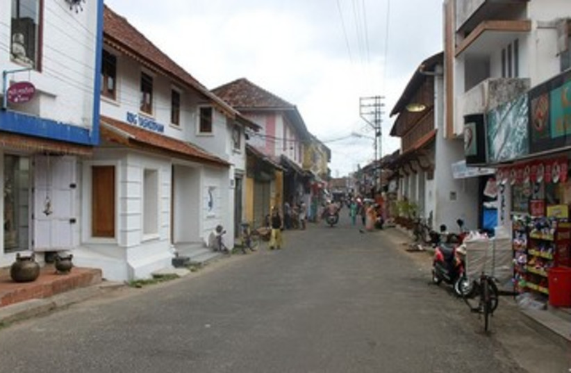 Jew Street in Mattancherry, India 390 (photo credit: Wikimedia Commons)