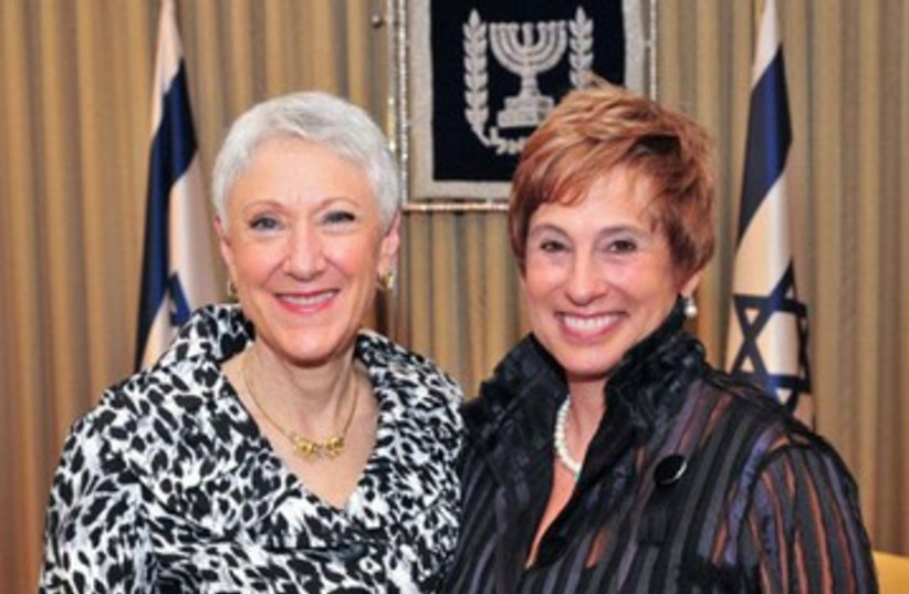 Hadassah presidents Marcie Natan and Nancy Falchuk 390 (photo credit: Hadassah / Facebook)