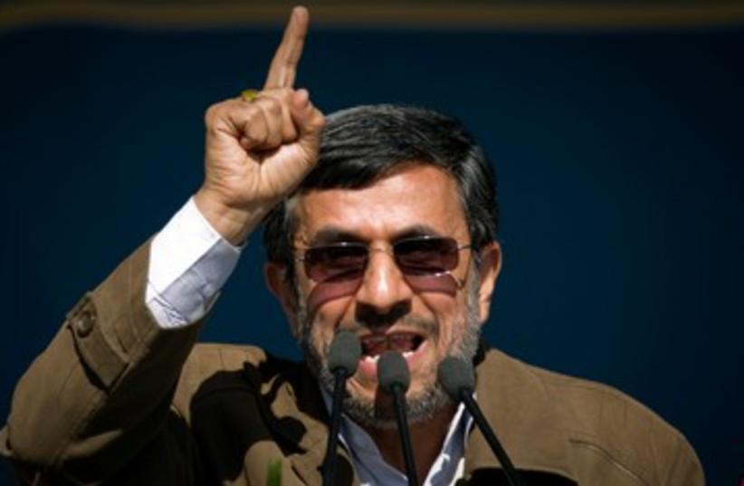 Iranian President Ahmadinejad 390 (photo credit: REUTERS)