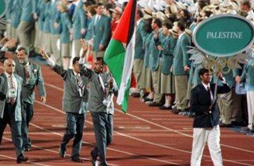 First ever Palestinian Olympic delegation 390 (R) (photo credit: Charles Platiau / Reuters)