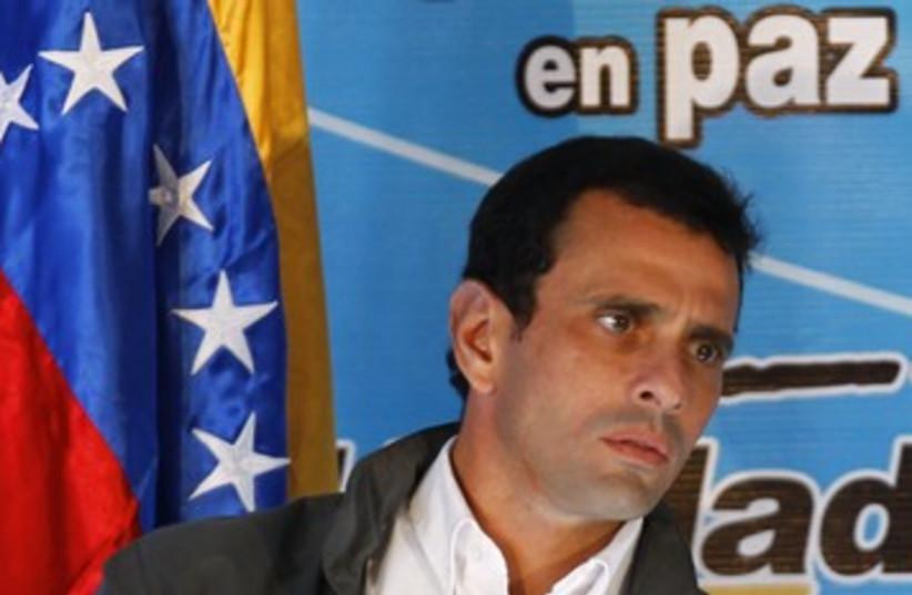 Venezuela Radonski 390 (photo credit: REUTERS/Jorge Silva)