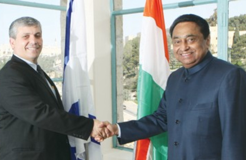 Shalom Simhon, Indian development minister nath_390 (photo credit: Yossi Zamir)