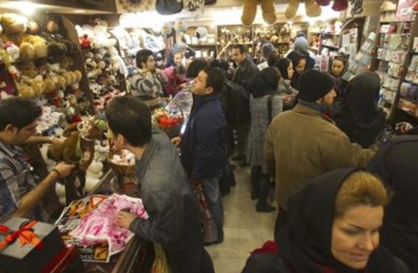 Valentine's gift shopping in Tehran (photo credit: REUTERS/Raheb Homavandi)