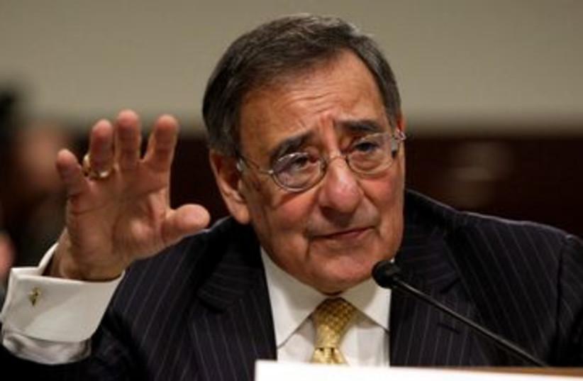 US Secretary of Defense Leon Panetta 390 (R) (photo credit: REUTERS/Yuri Gripas)