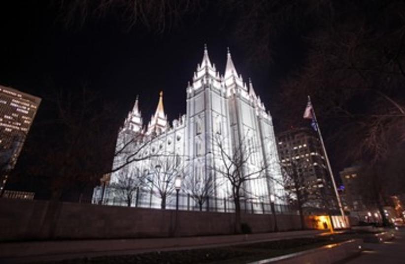 Mormon Temple in Salt Lake City 390 (R) (photo credit: Jim Urquhart / Reuters)