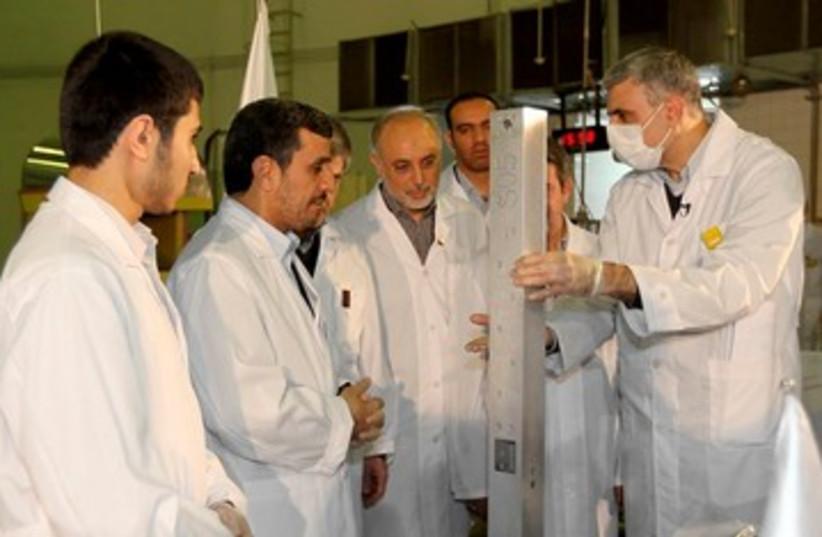 Iranian fuel rod 390 (photo credit: REUTERS)