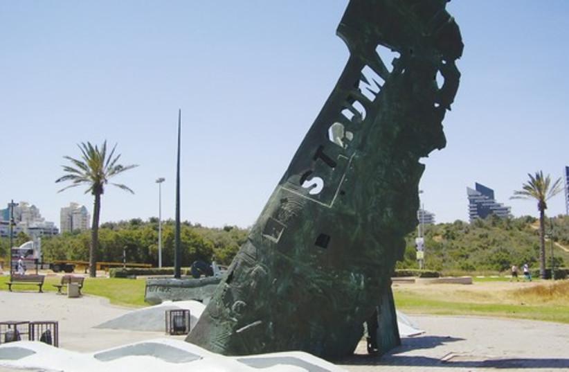 Monument to commemorate victims of 'Struma' 521 (photo credit: Courtesy/Avishai Teicher)