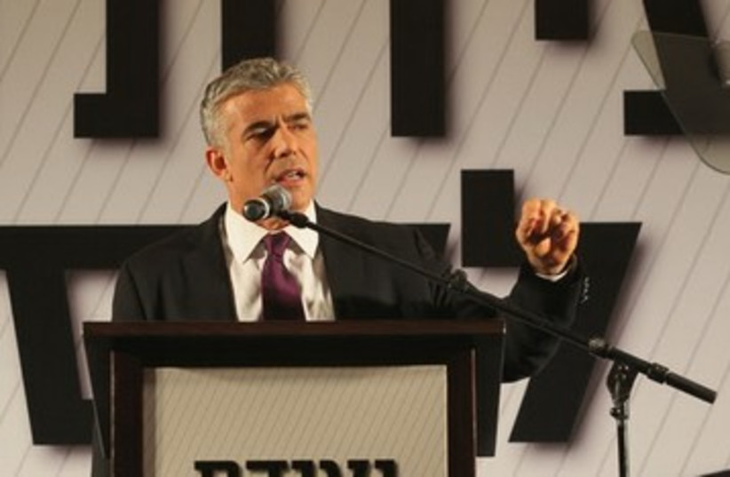 Yair Lapid speaks at a business conference in Eilat 390 (photo credit: Ezra Levi)