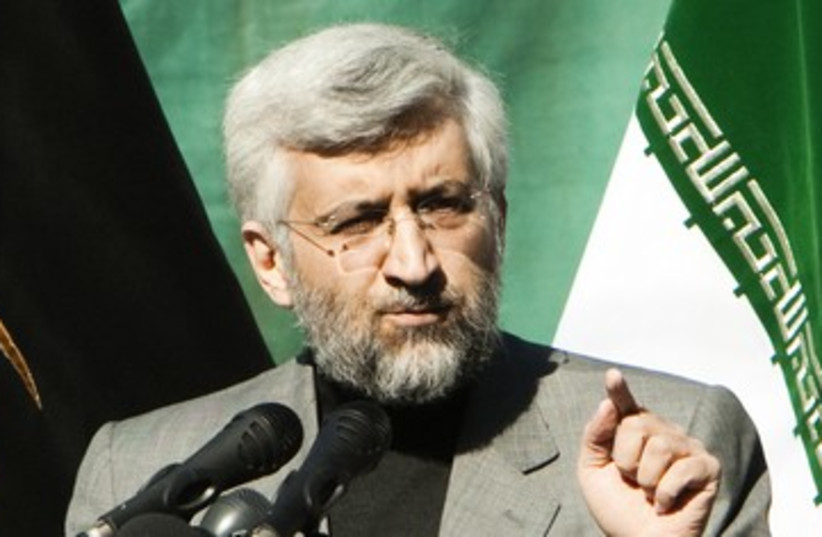 Iran's chief negotiator Jalili  390 (photo credit: REUTERS)