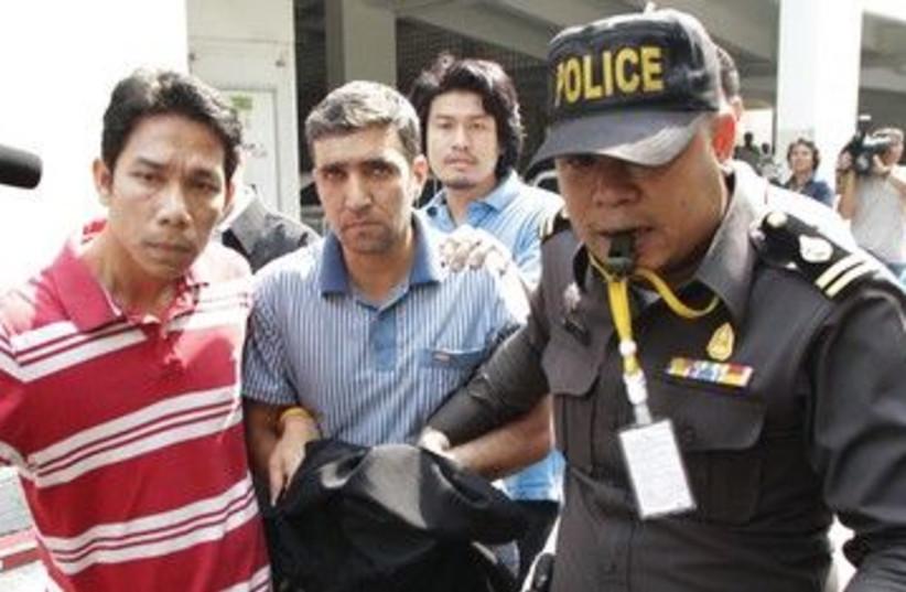 Thai police escort Iranian terror suspect 390 (R) (photo credit: Chaiwat Subprasom/Reuters)