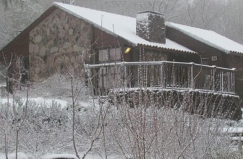 snowy cabin in Golan_390 (photo credit: Shefi Mor)