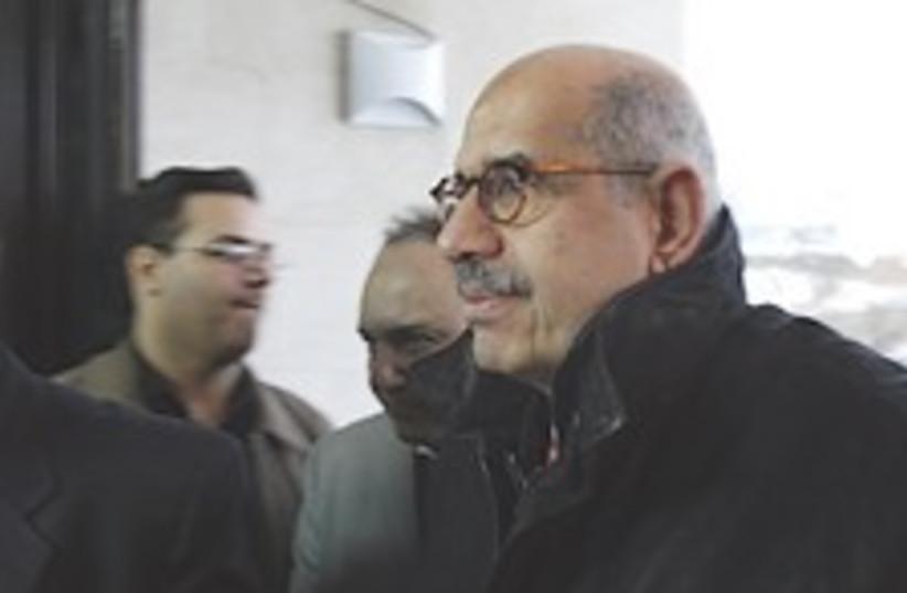 ElBaradei cold 224.88 (photo credit: AP)