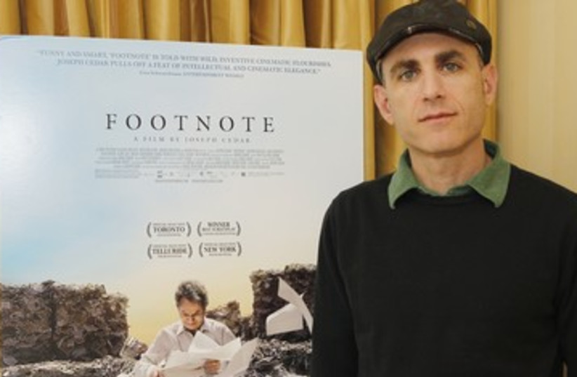 Joseph Cedar with Footnote poster 390 (photo credit: REUTERS)