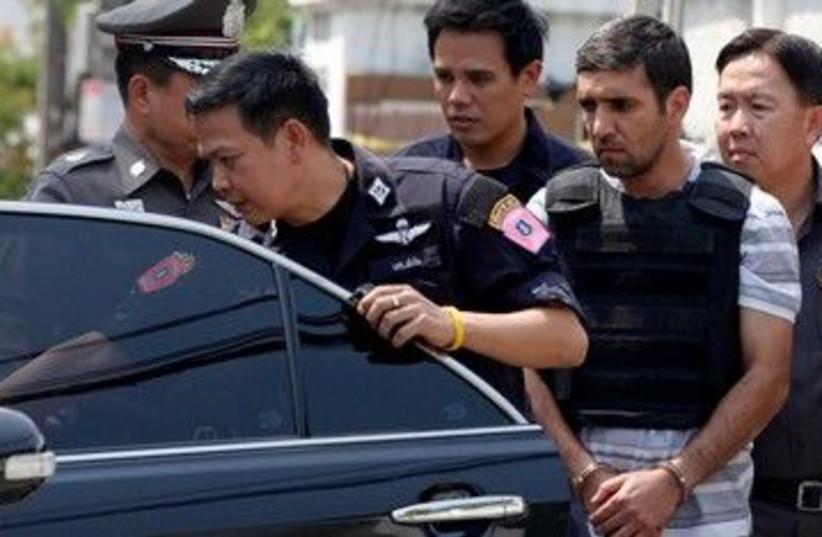 Thai police escort Iranian terror suspect 390 (R) (photo credit: REUTERS/Kerek Wongsa)