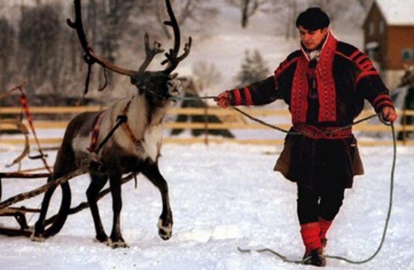 Member of the Sami ethnic group 390 (photo credit: REUTERS)