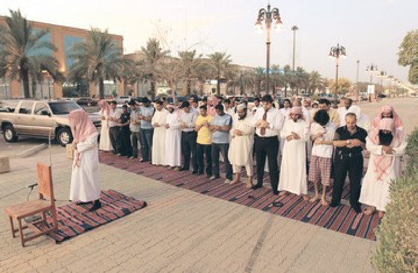 Religious police in Ryiadh, Saudi Arabia (photo credit: Reuters)