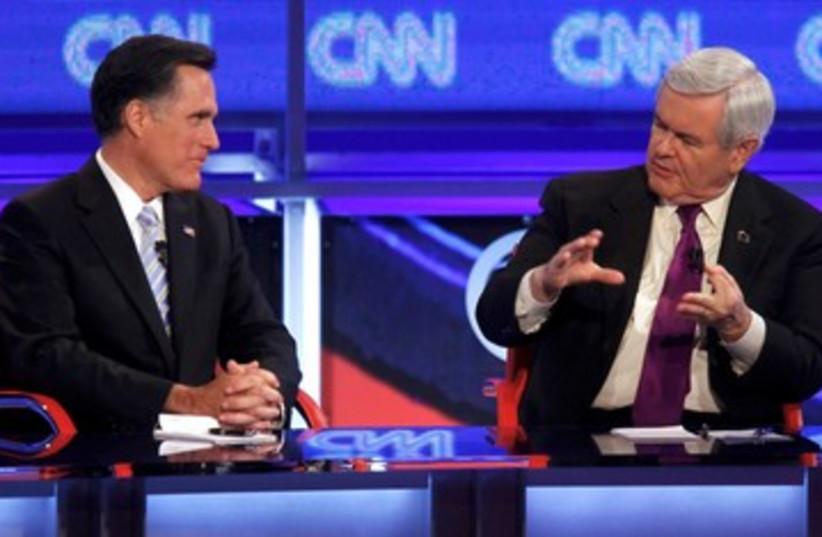 Republicans debate in Arizona 390 (photo credit: REUTERS)