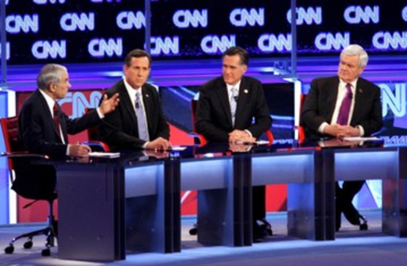 Republican debate Arizona 390 (photo credit: REUTERS)