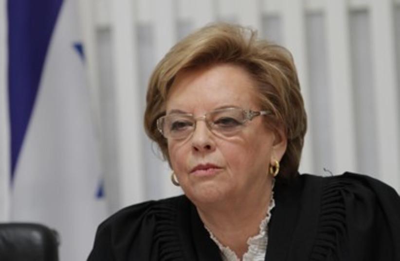 Supreme Court President Dorit Beinisch_390 (photo credit: Pool/Alex Kolomoisky)