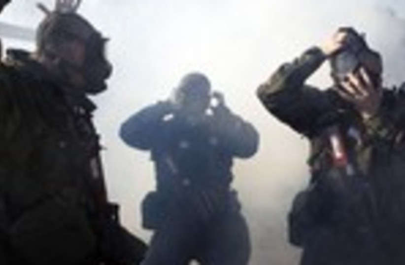 Chemical weapons drill 150 (photo credit: Reuters)
