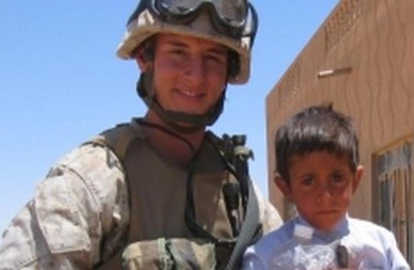 Josh Mandel during his service as a Marine in Iraq 390 (photo credit: Citizens for Josh Mandel)
