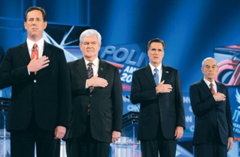 US Republican candidates 390 (photo credit: Reuters)