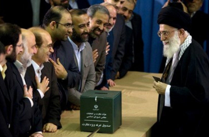 Iran's Supreme Leader Ayatollah Ali Khamenei 390 (R) (photo credit: REUTERS/Caren Firouz)