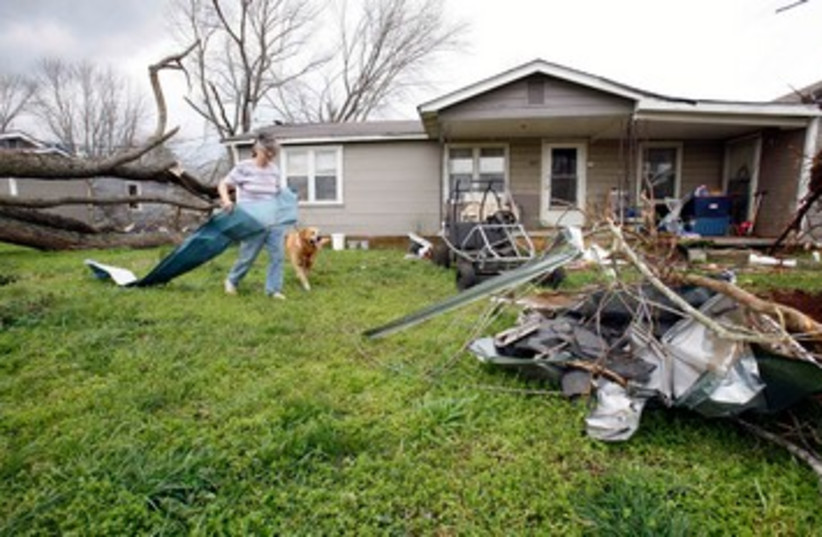 Tornado damage in US 390 (photo credit: REUTERS/Harrison McClary)
