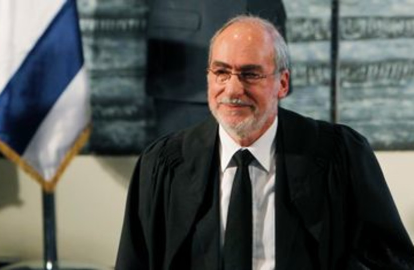 Supreme Court President Asher Grunis 390 (R) (photo credit: REUTERS/Ronen Zvulun)