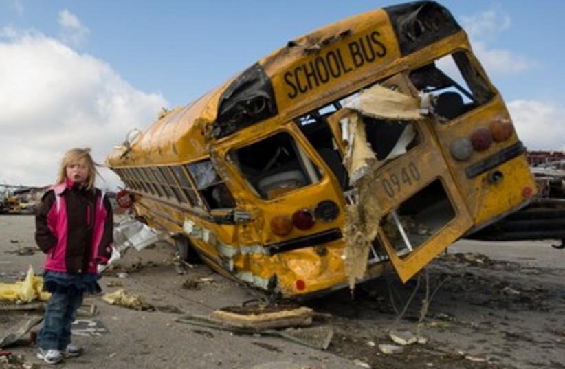 Damaged bus
