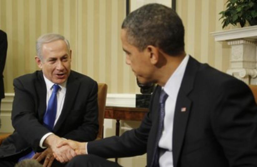 Netanyahu and Obama 390 (photo credit: REUTERS/Jason Reed)