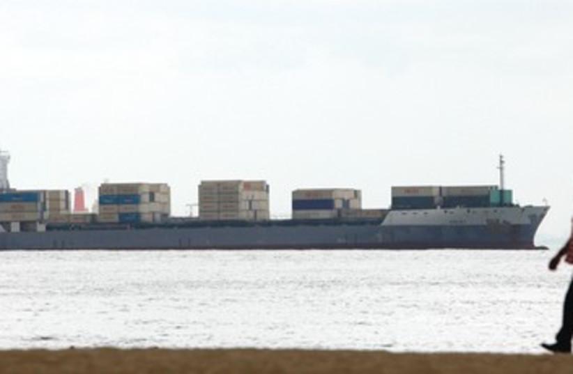 Iranian cargo ship 390 (photo credit: Reuters)