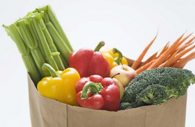 Grocery bag full of vegetables 390 (photo credit: Thinkstock/Imagebank)