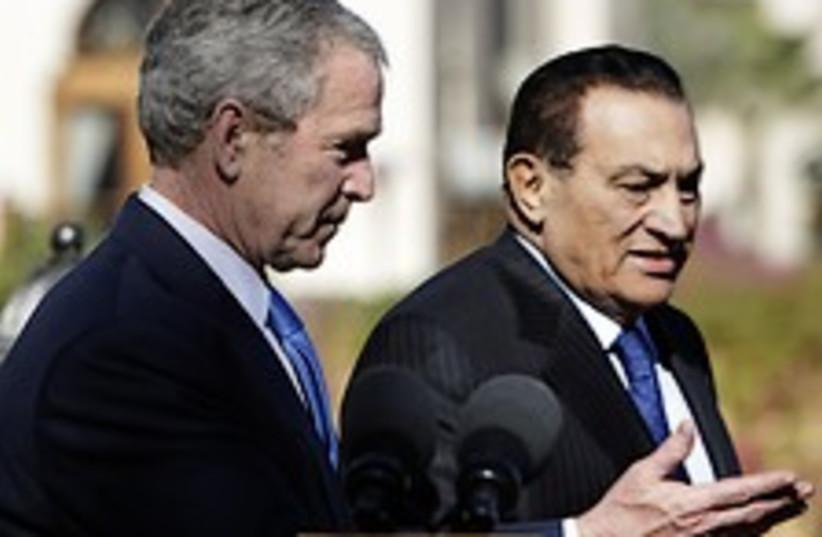 bush mubarak 224.88 (photo credit: AP)