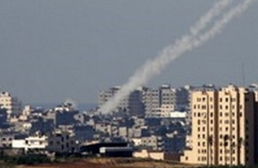 Rockets from Gaza 370(r) (photo credit: Nikola Solic / Reuters)