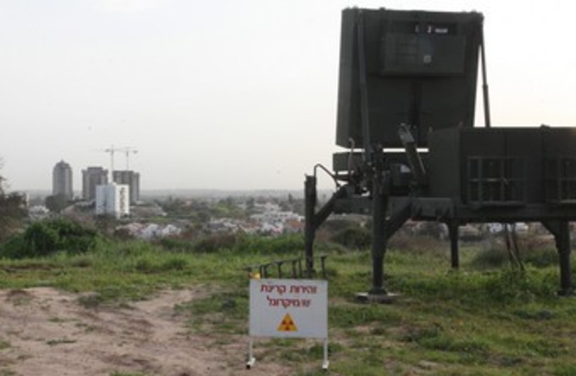 Iron dome battery protects city_370 (photo credit: Marc Israel Sellem/The Jerusalem Post)