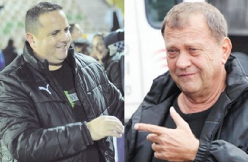 Ran Ben-Shimon (left) and club owner Izzy Sheratzky (right) (photo credit: Asaf Kliger/Adi Avishai)