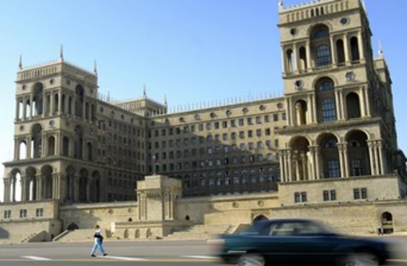 government building in baku, azerbaijan_370 (photo credit: Reuters)