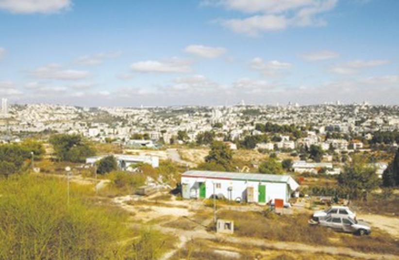 Housing trailer hillside city view 390 (R) (photo credit: REUTERS)