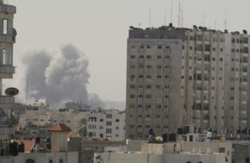 IAF strike in Gaza 370 (photo credit: REUTERS)