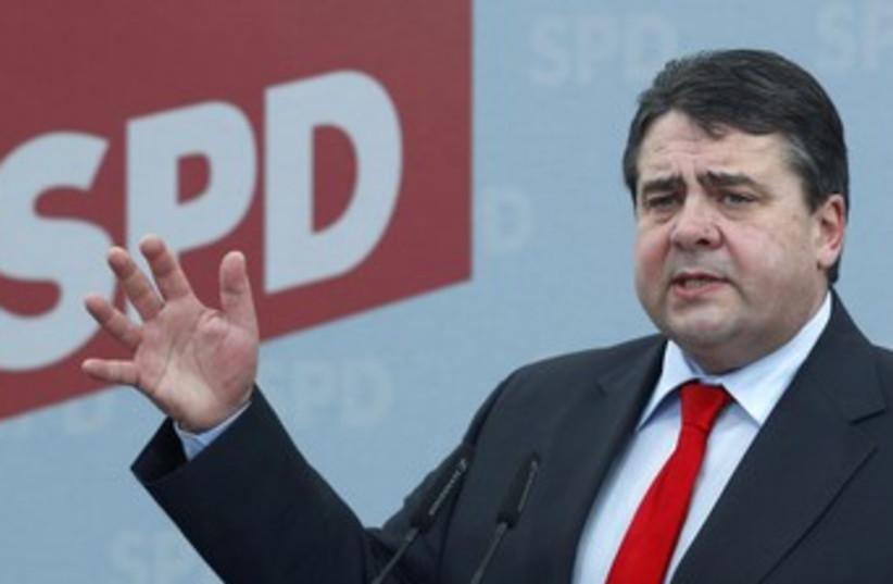 German SDP head Sigmar Gabriel_370 (photo credit: Michaela Rehle/Reuters)