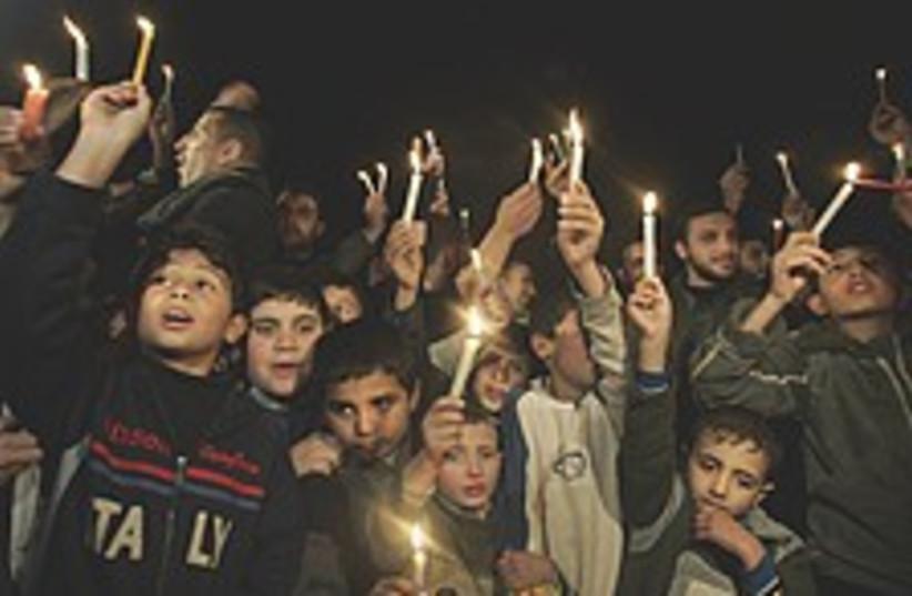 Gaza dark 224.88 (photo credit: AP [file])