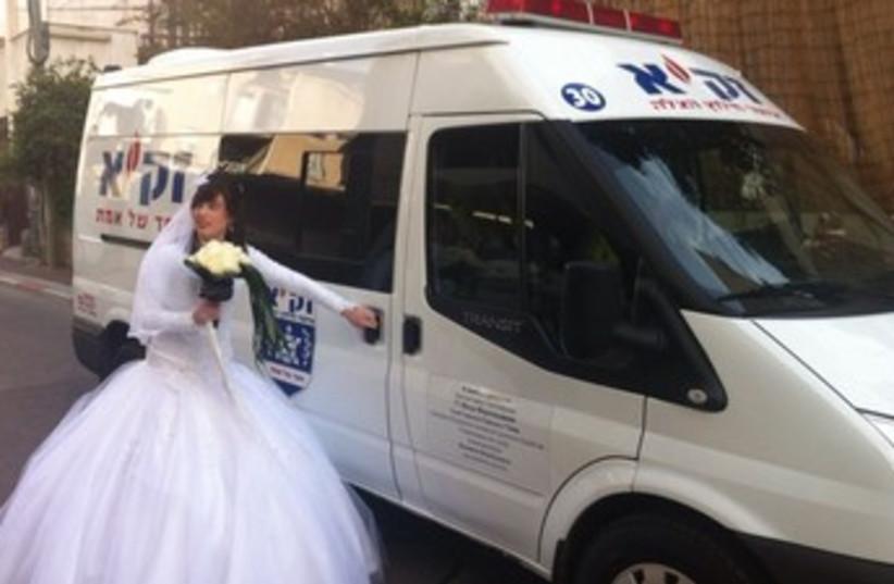 Bride ZAKA 370 (photo credit: Azriel Shnitzer)