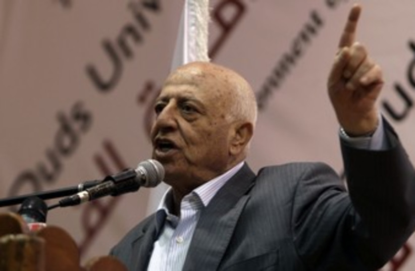 Former PA Prime Minister Ahmed Qurei 370 R (photo credit: Ammar Awad / Reuters)