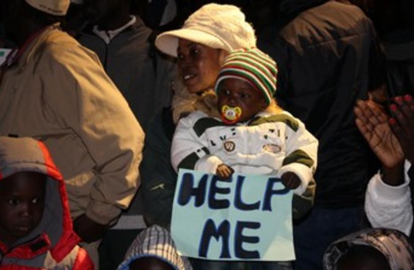 South Sudanese protest against deportation 370 (photo credit: Ben Hartman)