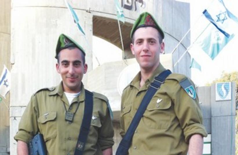 JONATHAN HASSON (left) and Ryan Shandler (photo credit: IDF)