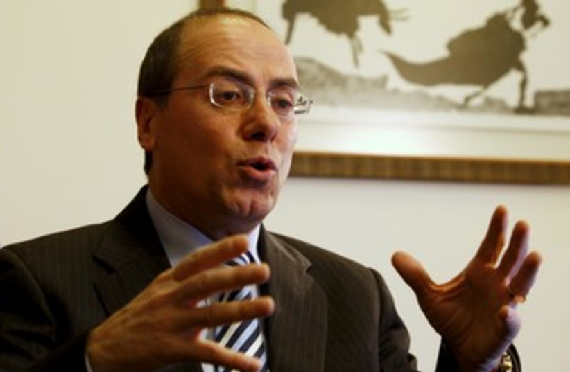 Silvan Shalom on Iran (photo credit: AMMAR AWAD / REUTERS)