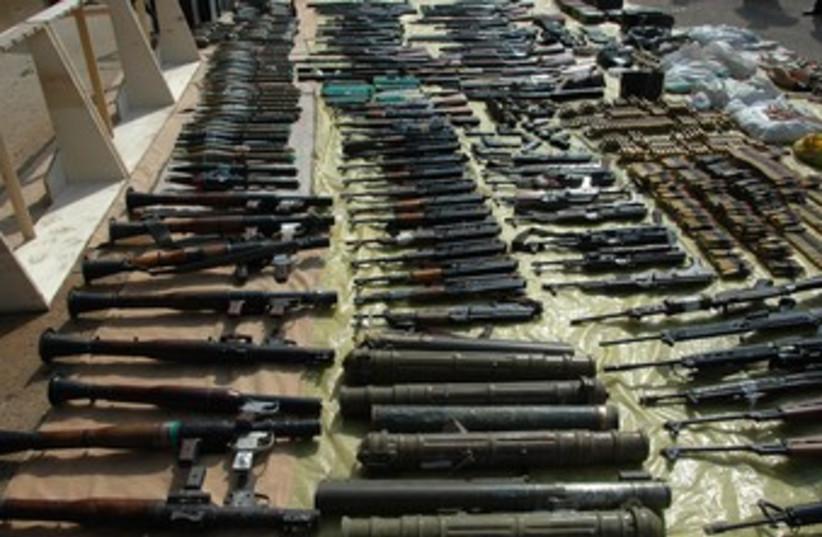 Syrian arms (illustrative) (photo credit: REUTERS/Sana Sana)