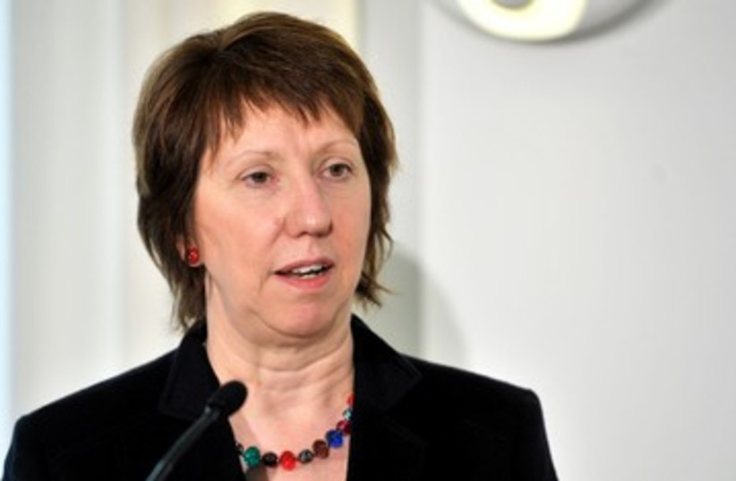 EU foreign policy chief Catherine Ashton 390 (R) (photo credit: REUTERS/Kimmo Mantyla/Lehtikuva)